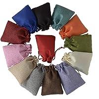 Brown Leaf® Royal Premium (4.5.4 inch) High Quality Jute Linen Multicolour Potli Bags Pouch Best for Wedding ,Party…