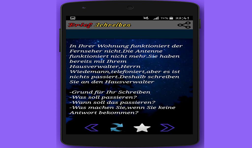 Brief Schreiben Zum Prüfung Amazonde Apps Für Android