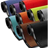 etm Schmutzfangmatte ColorLine | Türmatte in vielen Größen | Fußmatte für Innenbereich | Rutschfester Teppich für Flur, Haustür, Eingang, Eingangsbereich, Vorzimmer - Rot 60x180 cm