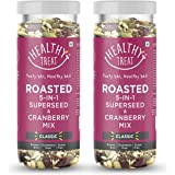 Healthy Treat Roasted 5 in 1 Superseed Mix with Cranberry 300 gm ( Pack of 2 , Each 150 gm ) | Immunity Booster Trail Mix | G