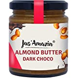 Jus' Amazin Almond Butter Dark Choco (200g) with Anti-oxidant Rich Organic Raw Cacao & Jaggery | Creamy, 100% Natural, Vegan,