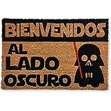 koko doormats felpudos Entrada casa Originales, Fibra de Coco y PVC, Felpudo Exterior Bienvenido AL Lado Oscuro, 40x60x1.5 cm