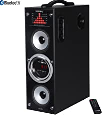 Vemax Rock Bluetooth Tower Speaker System with 5.25 inch Woofer 1.5 Feet Height (Black & Silver)