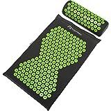 Supportiback Akupressur matta och kudde för avkoppling och smärtlindring, tvättbart överdrag, inkl. bärväska