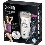 Braun Silk-Epil 9 9561 Epilatör, Islak Ve Kuru Kablosuz, 8 Ek Parçalı Epilatör / Epilasyon, Pembe