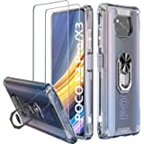 Milomdoi [3 Articulos] 1 Pcs Funda para Xiaomi Poco X3 Pro/Poco X3 NFC + 2 Pack Cristal Templado [Parte Posterior de plástico