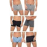 Undercover 6 Pairs Mens Lingerie Cotton Rich Button Boxer Shorts Check Patterened or Plain Boxers Sizes S-6XL
