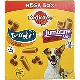 Pedigree Hundsnacks mixpack för små hundar med godis anka & kyckling och mini jätteben nötkött & fjäderfä (4 stycken), 740 g