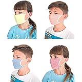Relaxsan 50514 [Assortito] Set 4 Fasce Bocca Naso Bambino 6-12 Anni Lavabili riutilizzabili Tessuto batteriostatico