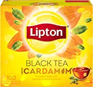 Lipton Flavoured Black Tea Cardamom, 100 Teabags