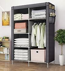 Aventure Multipurpose Wardrobe Cloth Almirah Storage Organizer (135x45x175cm, Multicolour, 6.0528329176e+011)