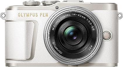 Olympus PEN E-PL9 Kompakte Systemkamera (16 Megapixel, elektrischer Zoom, 4k Movies, 7,6 cm (3 Zoll) Display, Wifi) inklusiv 14-42 mm Pancake Objektiv weiß/silber