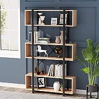 6 Niveaux Bibliothèque Étagère de Rangement bibliothèque Meuble de Rangement Industrielle étagère décorative pour Salon…