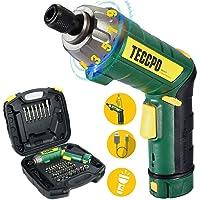 Avvitatore Elettrico, TECCPO 6Nm Cacciavite Elettrico, 9+1 Coppia di Serraggio, 45 Pezzi Accessori, 2000mAh Li-ion 3,6V…