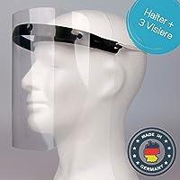 Gesichtsschutz aus Kunststoff - 1 x Halterungen mit je 3 Wechselfolien - Gesichtsschutzmaske Prime