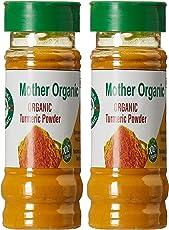 Mother Organic Turmeric Powder Bottle, 100g (Pack of 2)