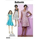 Butterick Patterns Butterick 6448A5, Schnittmuster Kleid, Größen 6–14, Mehrfarbig