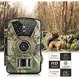 """Wildkamera, OUTAD 12MP 1080P Jagdkamera, Infrarot 20M Nachtsicht Überwachungskamera, 2.4"""" IP66 LCD Wasserdichte Nachtsichtkamera, mit IR LED's Bewegungssensor"""