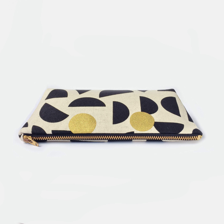 c0f3b2d0bfee Geometric Pencil Case Small Makeup Bag, Handcraft Canvas Zipper ...