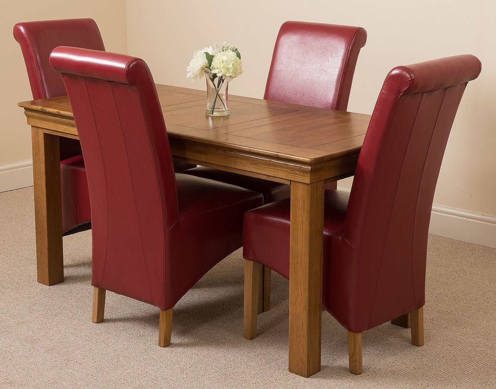 81G1mVKwCVL - French Rustic Solid Oak 150 cm Dining Table with 4 or 6 Montana Dining Chairs