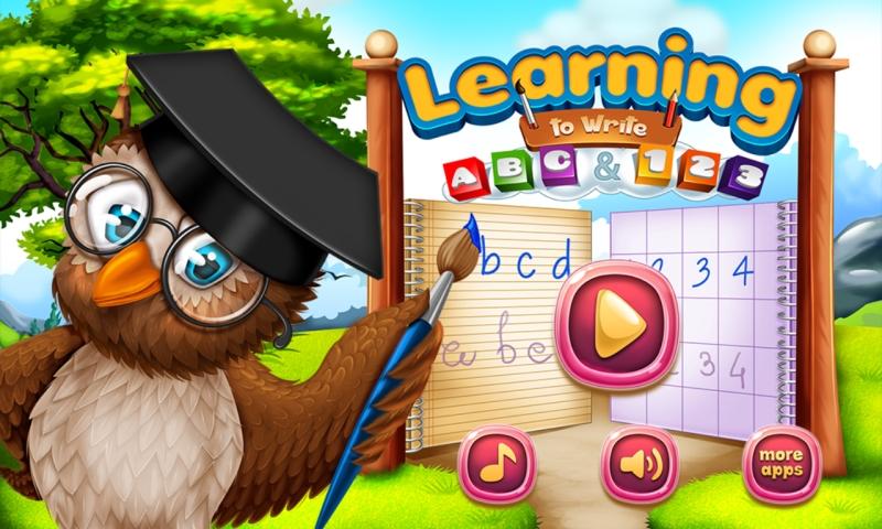 Lernen ABC und 123 zu schreiben : lernen Alphabet und Zahlen zu schreiben ! Lernspiel für Kinder KOSTENLOS - 3