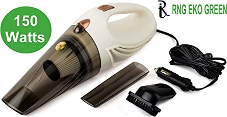 RNG EKO GREEN 12V/150W High Power Wet/Dry Car Handheld Vacuum Cleaner (White)