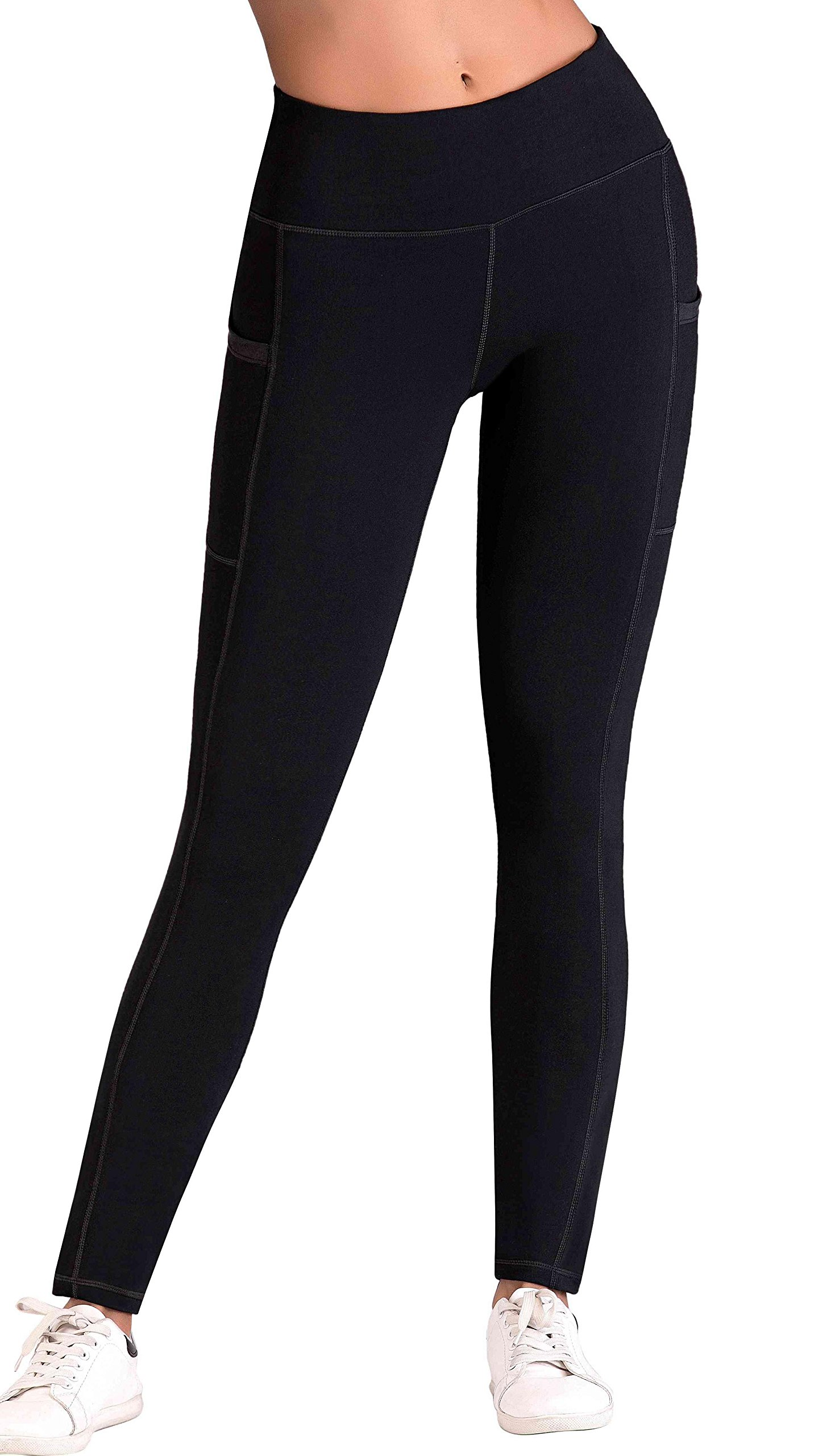 81G28CMowUL - IUGA Yoga Pants with Pockets, Workout Running Leggings with Pockets for Women