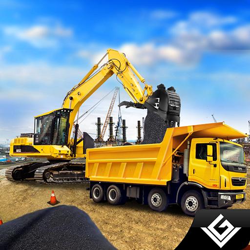 Stadt-Straßenbaumeister-schwerer Bau-Bagger-Simulator: Schwermaschinen-Kran-Stadt-Erbauer-Tycoon-Abenteuer-3D Spiele geben für Kinder frei