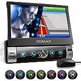 "XOMAX XM-VN764 Autoradio avec Mirrorlink pour Android I Navigation GPS I cartographie Europe I Bluetooth I Écran Tactile de 7"" 18cm I RDS USB SD AUX I 1 DIN"