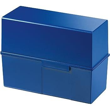 simpel Ordnung halten 2 St/ützplatten quer Karteikartenbox in Schwarz mit gro/ßem Schriftfeld /& inkl HAN Karteikasten A4 954-13 f/ür 1.300 Karten