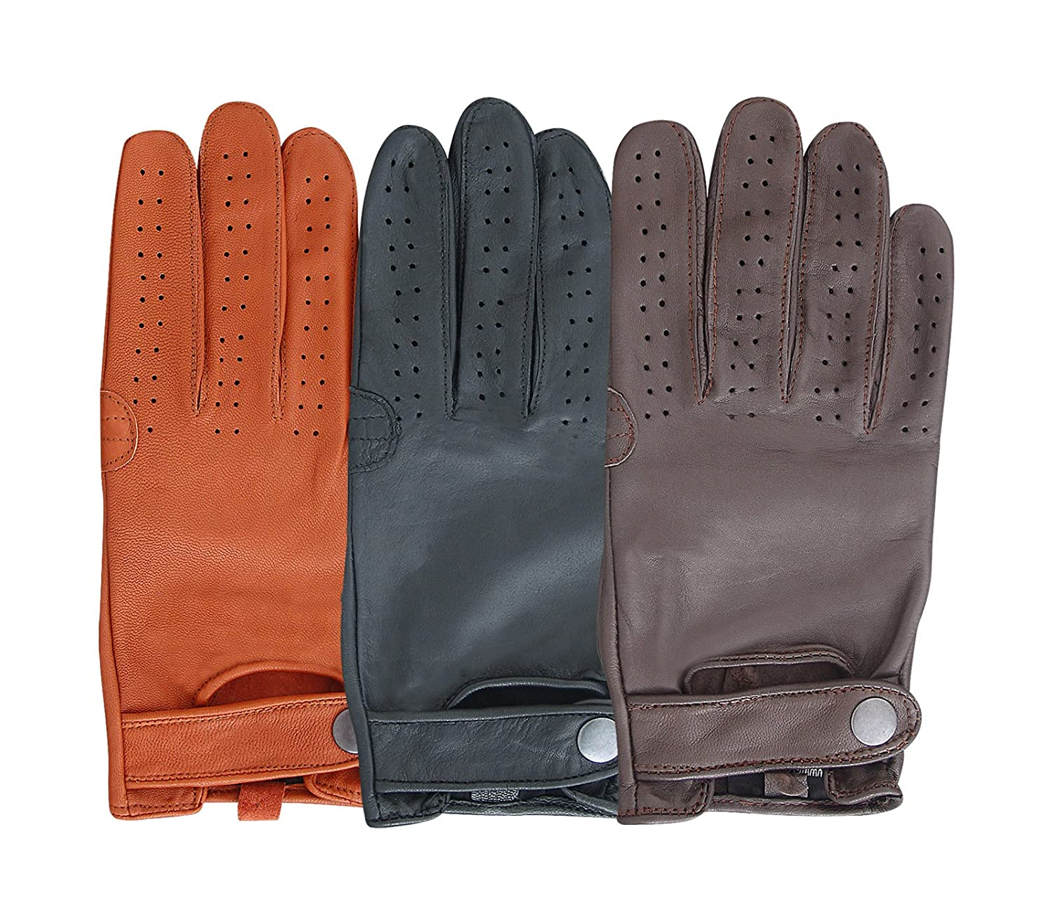 Mens gloves fashion - Mens Pair Of Classic Genuine Soft Nappa Leather Driving Gloves Dress Fashion Motorbike Vintage Style Amazon Co Uk Garden Outdoors