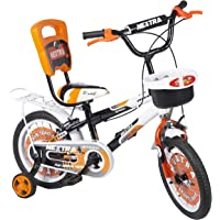 Speed Brid 14-T NEXTRA with Back Carrier Kids Bicycle Baby Cycle for Boys & Girls - Age of 3-6 Years (Peach Orange)