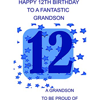 Grandson 12 Birthday Card