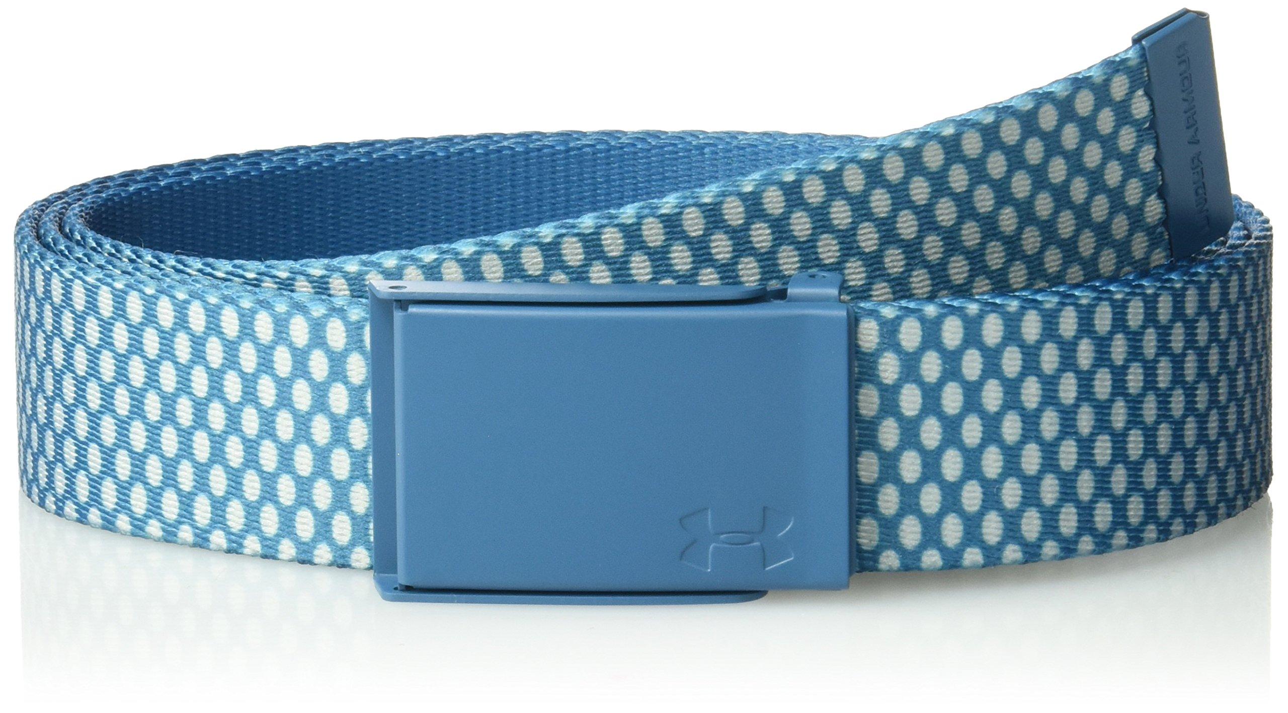 Under Armour UA stampato cintura, donna, UA Printed Webbing Belt, Bayou Blue, Taglia unica