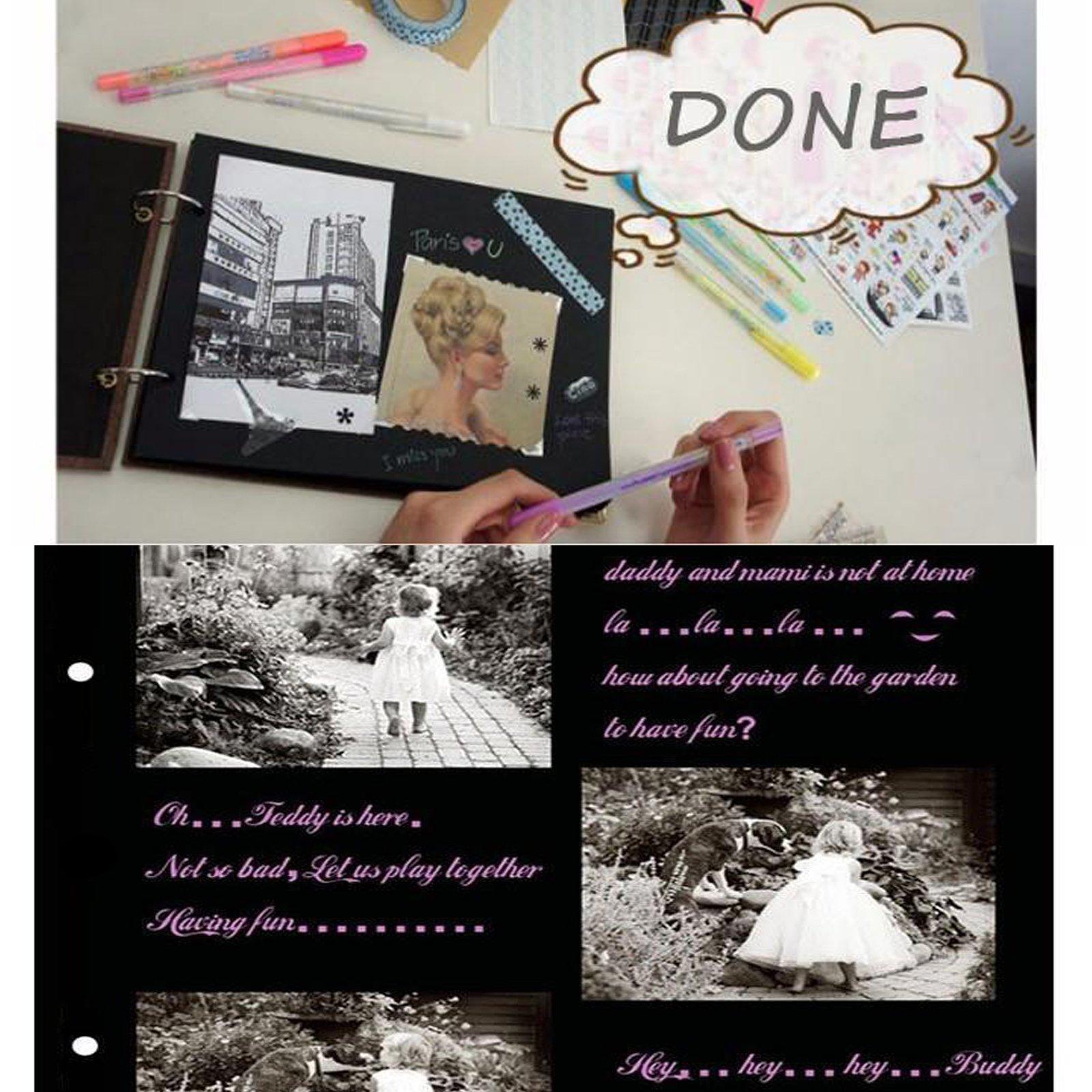 Sehaz Artworks HappyEveryday Scrapbook Photo Albums for 4x6 Photos for Baby Birthdays Couples Husband Wife Wedding 26 cm X 16 cm X 4 cm, Brown