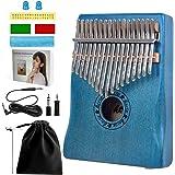 Horse 17 llaves Kalimba Piano de pulgar Kits de inicio Instrumentos musicales para niños adultos regalo de Navidad (17 llaves