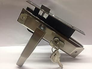 Godrej NEH 06 1CK 20cm Zinc Alloy Door Handle Set with Lock Body and Cylinder