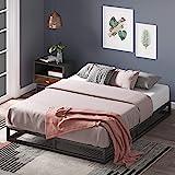 Cadre de lit plateforme en métal 15 cm Joseph ZINUS | Sommier | Support à lattes en bois | Rangement sous le lit | Pour adult