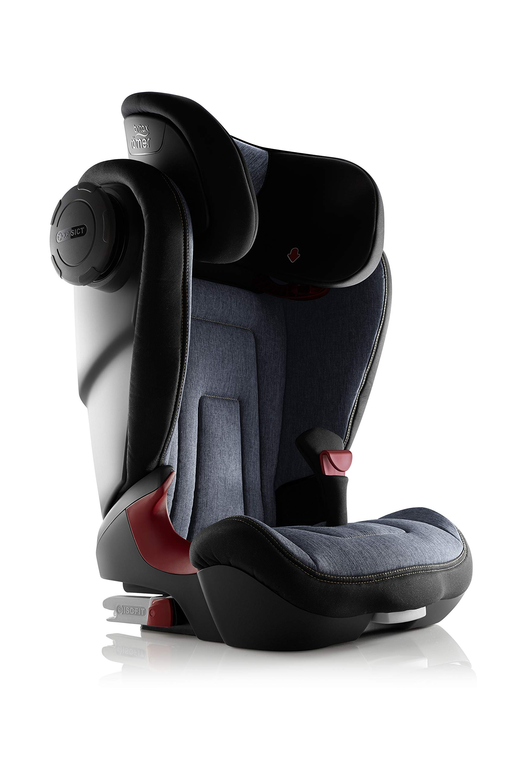 Britax Römer KIDFIX² S Group 2-3 (15-36kg) Car Seat - Blue Marble Britax Römer Advanced side impact protection - sict offers superior protection to your child in the event of a side collision. reducing impact forces by minimising the distance between the car and the car seat. Secure guard - helps to protect your child's delicate abdominal area by adding an extra - a 4th - contact point to the 3-point seat belt. High back booster - protects your child in 3 ways: provides head to hip protection; belt guides provide correct positioning of the seat belt and the padded headrest provides safety and comfort. 4