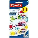 Tipp-Ex Mini Pocket Mouse Rubans Correcteurs 6 m x 5 mm - Couleurs Tendance Assorties, Blister de 2+1