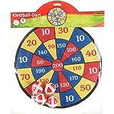 Idena 40095 Dartspel met stof en 4 klittenbandballen, diameter ca. 35 cm, voor binnen en buiten.