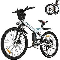VIVI EBike Klapprad 26 Zoll Mountainbike Pedelec mit 250W Motor, 36V 8Ah Lithium-Ionen Akk 21 Gang Pedelec…