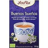 Yogi Tea - Buenos Sueños, Infusión Ayurvédica de Hierbas con Hinojo, Flores de Manzanilla y Raíz de Valeriana - 17 Bolsitas,