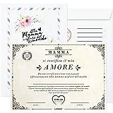 Idea Regalo Festa della Mamma - Pergamena da Scrivere per Mamme - Idee Regalo Originale Compleanno Donna