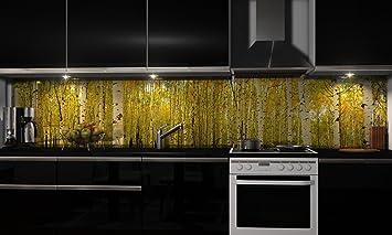 Küchenrückwand-Folie Wald voller Bäume Klebefolie Spritzschutz ...