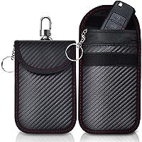 2 Pack Faraday Bag   Car Key Signal Blocking Pouch   Keyless Entry Car Keys Case   RFID Blocker Bag for Car Security