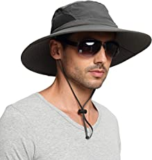 EINSKEY Sonnenhut Herren Damen UV Schutz Safari Hut Wanderhut Faltbar Gartenhut Boonie Fischerhut Wasserdicht Outdoor Buschhut Hiking Bucket Hat