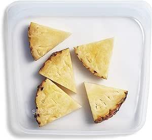 Stasher, sacchetto in silicone riutilizzabile di grado alimentare, plastica, Trasparente, Sandwich/Medium