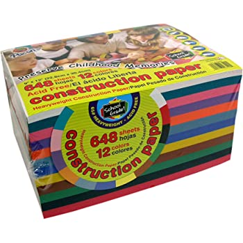 Bumper Value Paper Block - 648 Sheets of Heavy Weight Construction Paper - Vivid Assorted Colours (228mmx305mm) The perfect paper for all crafting projects in the classroom or at home ****RRP £22.50****