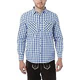 Lower East Men's Trachten Long Sleeve Casual Shirt